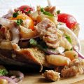 tonhal saláta fehérbabbal
