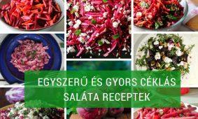 Egyszerű és gyors céklás saláta receptek