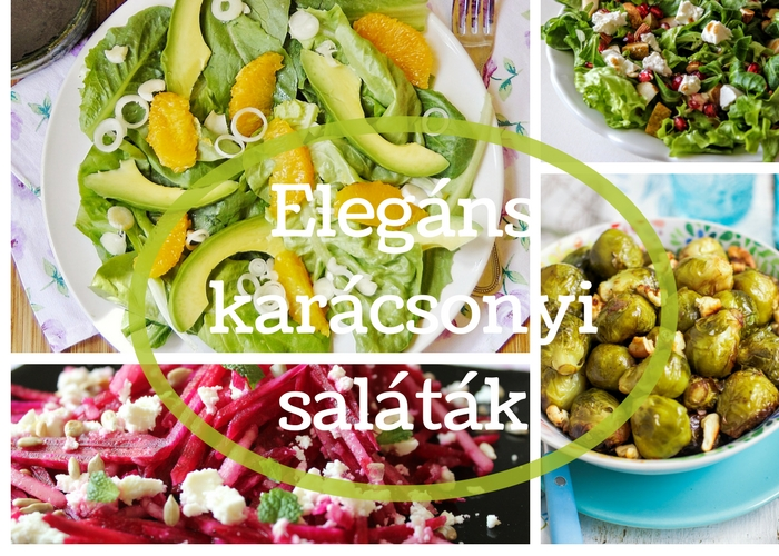 Salátaötletek karácsonyra