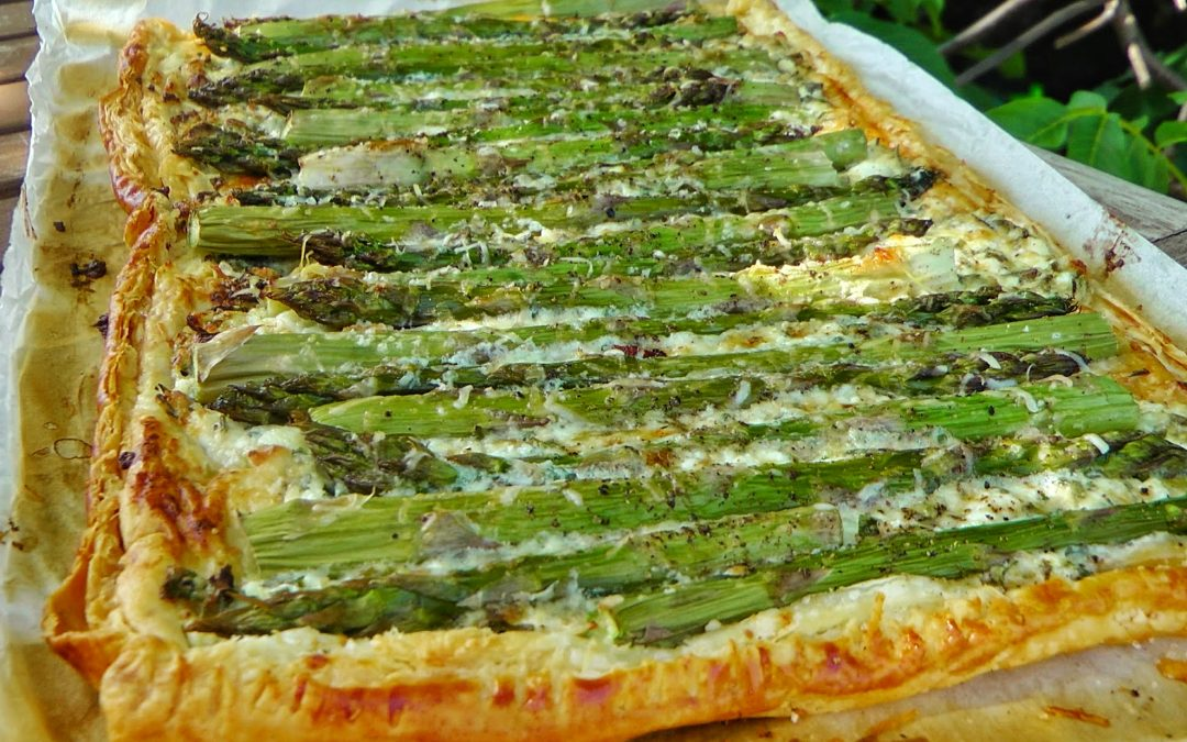 spárgás pite zöldfűszeres krémsajttal