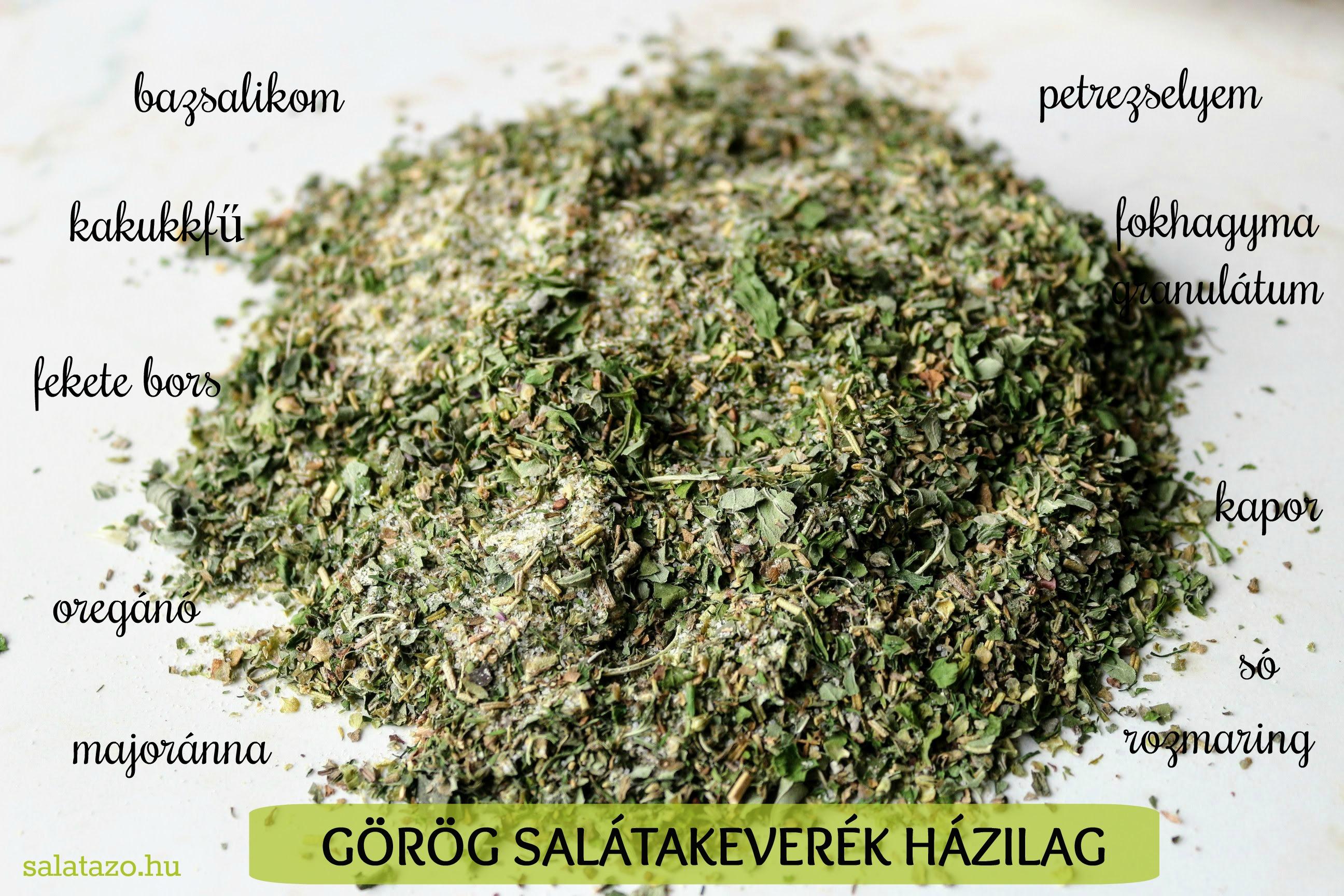 Görög fűszerkeverék házilag