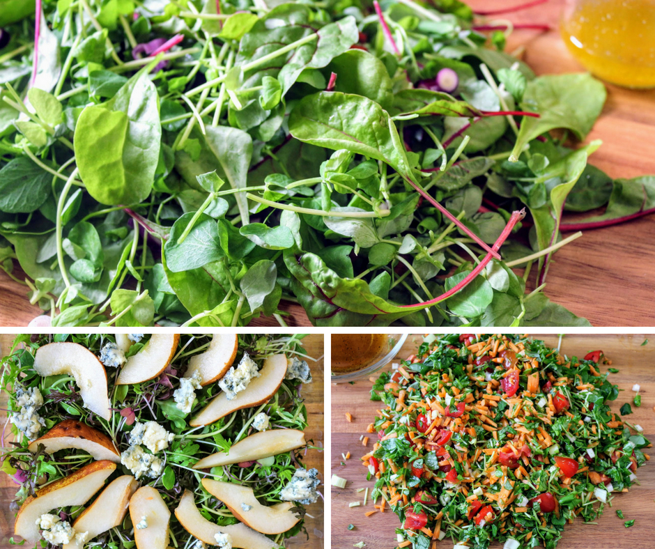 3 egyszerű zöldsaláta, ha nagyon kevés az időd
