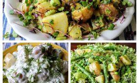 Könnyű újburgonya saláták