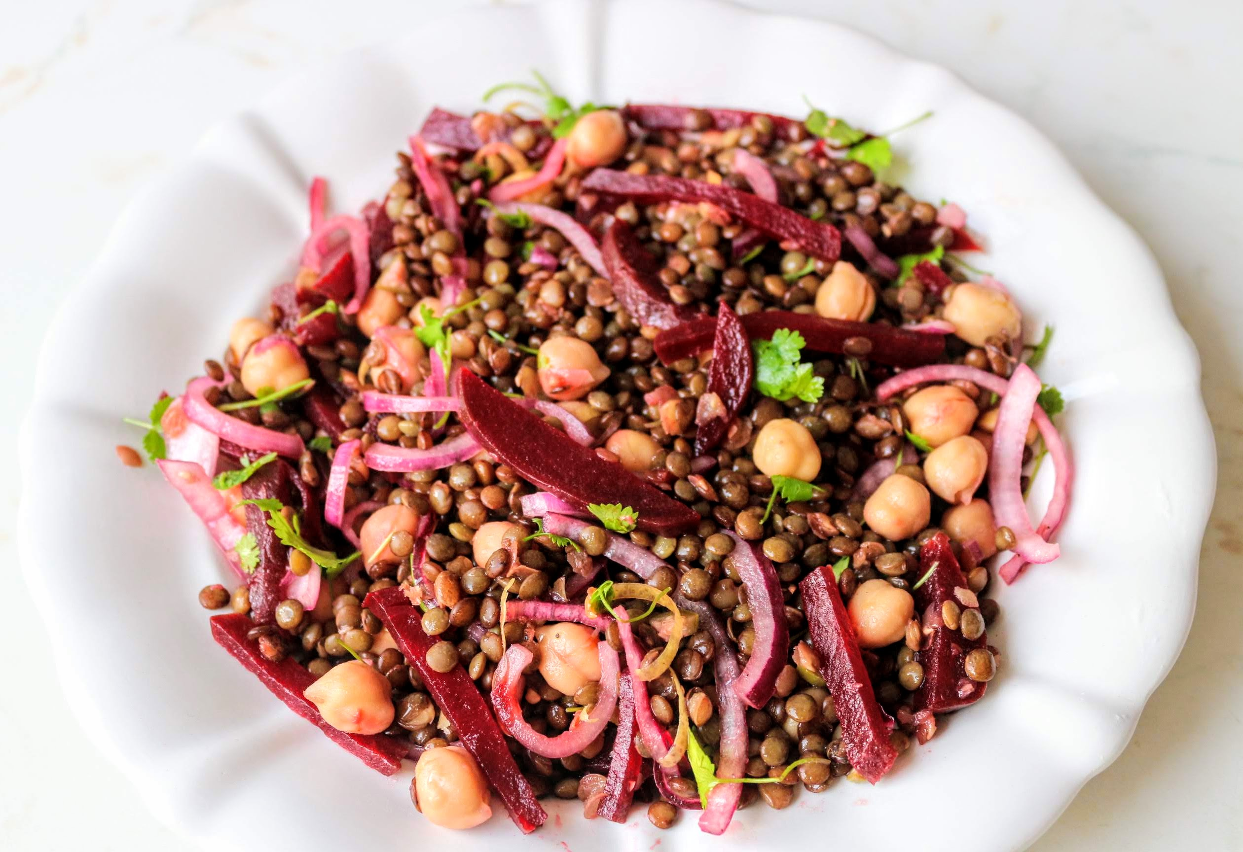 lencse-cékla-csicseriborsó saláta