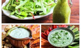 3 zöldfűszeres salátaöntet, ami mártogatósnak is kiváló