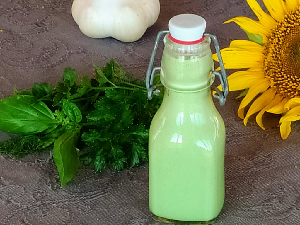 zöldfűszeres öntet